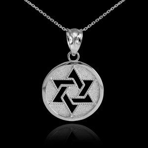 925 Sterling Silver Cut-out Star of David Necklace